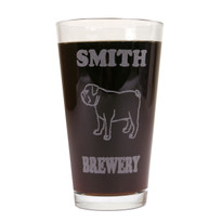 Personalized Pint Glass Beer Mug - Bulldog (