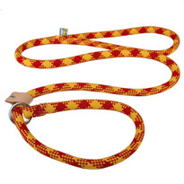 Red and Gold Rope Slip Leash For Dogs