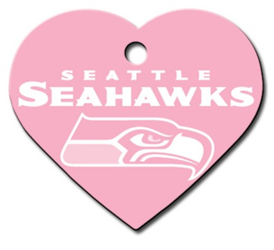 Seattle Seahawks PINK Pet ID Tag - With Engraving