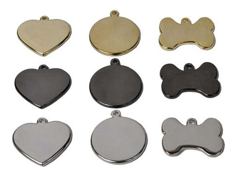 Steel, Brass, or Gun Metal Engraved Pet ID Tag
