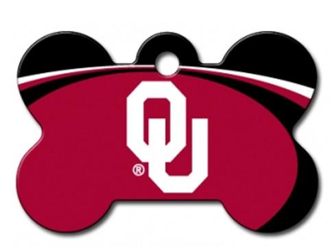 Oklahoma Sooners Engraved Pet Id Tag At Hotdogcollars