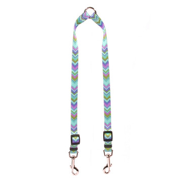 Chevy Stripe Blue Coupler Dog Leash