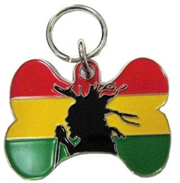 Rasta Pet ID Tag - With Engraving