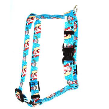 "Santa and Snowman Roman Style ""H"" Dog Harness"