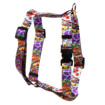 "Amazon Floral Roman Style ""H"" Dog Harness"