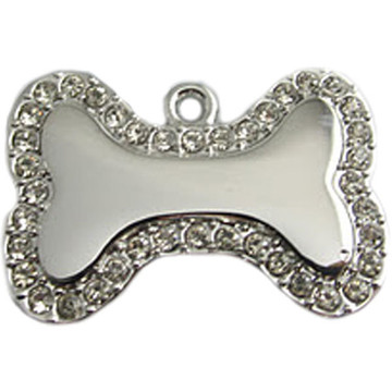 crystal bone engraved pet id tag lifetime guarantee at