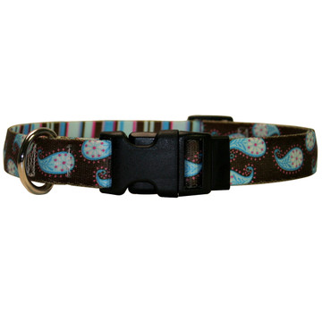 Brown Paisley Dog Collar