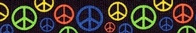 Neon Peace Signs Waist Walker