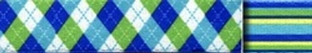 Blue and Green Argyle Waist Walker