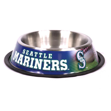 Seattle Mariners Stainless Steel MLB Dog Bowl