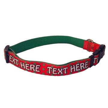 Personalized Holiday Polka Dot Dog Collar