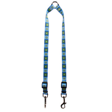 Blue Blocks Coupler Dog Leash
