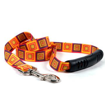 Orange Blocks EZ-Grip Dog Leash