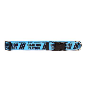 1 Inch - Caution Playboy Dog Collar