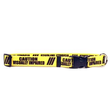 1 Inch - Caution Visually Imparied Dog Collar
