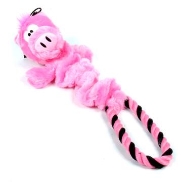 Rope Ring Piggy Elastic Dog Toy