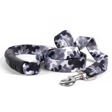 Black and White Camo EZ-Grip Dog Leash