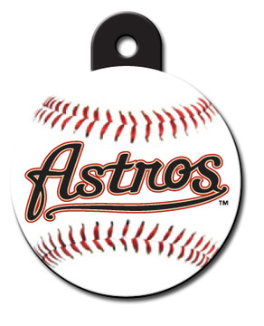 Houston Astros ROUND Engraved Dog ID Tag