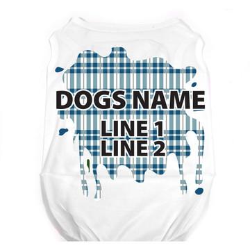 Personalized Preppy Boy Plaid Pet T-Shirt