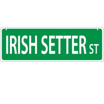 Irish Setter Street Sign