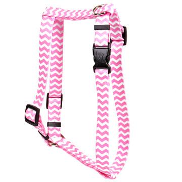 "Chevron - Watermelon Roman Style ""H"" Dog Harness"