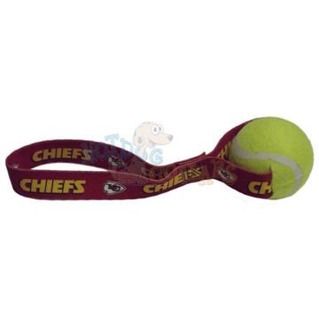 Kansas City Chiefs  Tennis Ball Tug Dog Toy