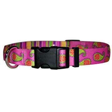 Pink Paisley Break Away Cat Collar