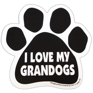 I Love My Grandogs Paw Magnet