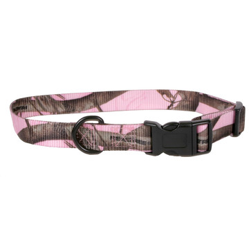 Real Tree Pink Camouflage Kwik Klip Dog Collar
