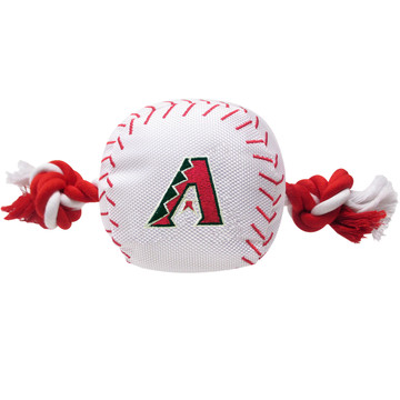 Arizona Diamondbacks Nylon Rope Baseball Squeaker  Dog Toy