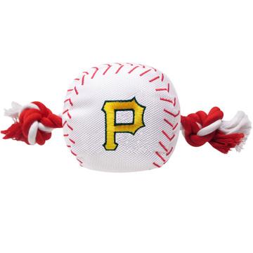 Pittsburgh Pirates Nylon Rope Baseball Squeaker  Dog Toy