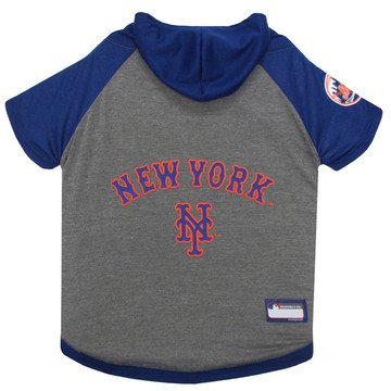 New York Mets Hoodie T-Shirt For Dogs