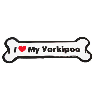 I Love My Yorkiepoo Bone Magnet