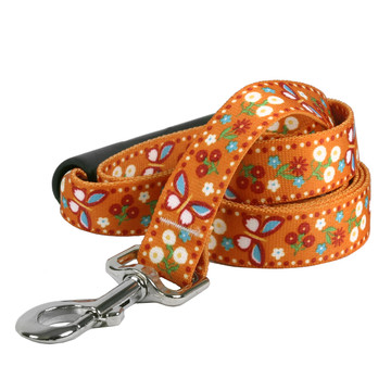 Festive Butterfly Orange EZ-Grip Dog Leash
