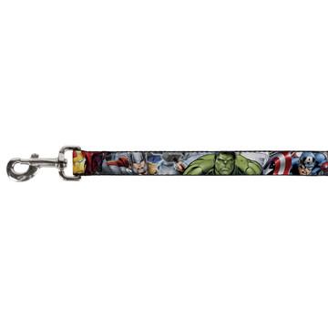 Marvel Avengers Assemble Superheroes Buckle Down Dog Leash