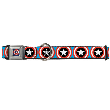 Captain America Shield Buckle-Down Seat Belt Buckle Dog Collar