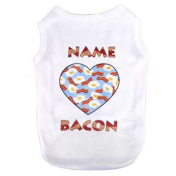 Personalized Bacon and Eggs Pet T-Shirt