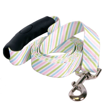 Southern Dawg Seersucker Pink and Blue and Green Premium Dog Leash