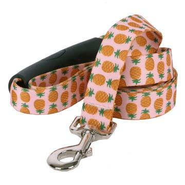 Pineapples Pink EZ-Grip Dog Leash