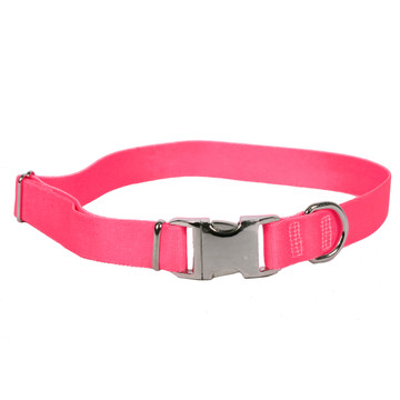 Sterling Solid Dark Pink Dog Collar
