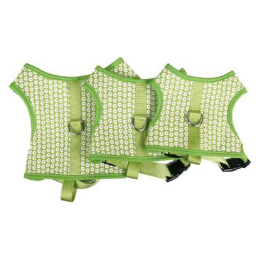 Green Daisy Soft Dog Harness