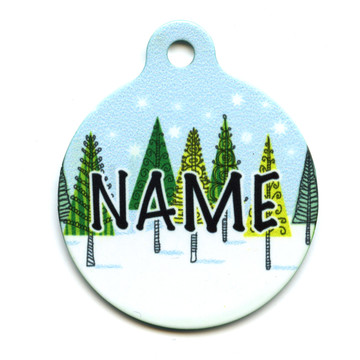 Winter Trees HD Pet ID Tag