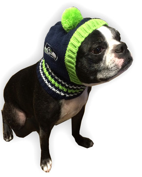 Seattle Seahawks NFL Football Knit Hat For Dogs - Hot Dog Collars