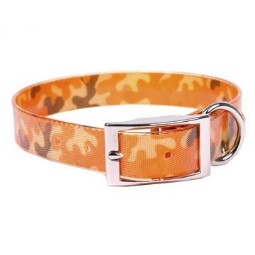 Orange Camo Elements Dog Collar