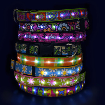 Light Up Hot Dog Safety Collar - Designer Patterns