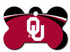 Oklahoma Sooners Engraved Pet ID Tag