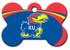 Kansas Jayhawks Engraved Pet ID Tag