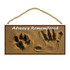 Always Remembered Pawprint Wood Sign