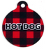 Buffalo Plaid Red HD Pet ID Tag
