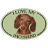 I Love My Dachshund Colorful Oval Magnet